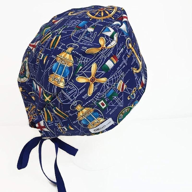Uni Scrub Hat Nautical