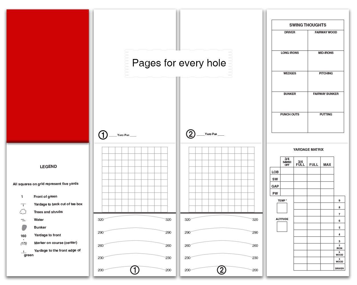 Emblemedia Golf Yardage Book (4 Pack) PGA Template 2019 USGA Conforming by Emblemedia (Image #5)