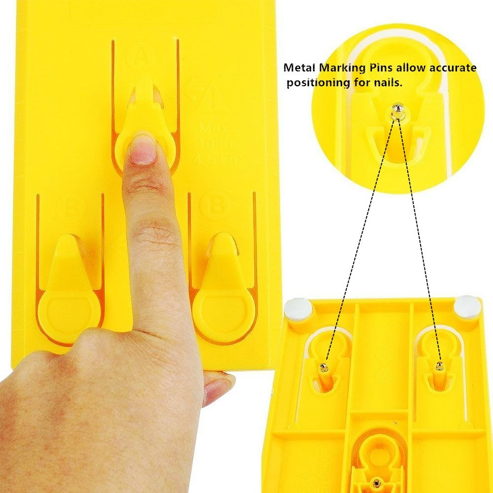 Picture Hanging Tool Frame Hanging Set Picture Hanger Suspension Measurement Position Marking Kit with Built-in Vertical & Horizontal Levels, Easy and Quick for Hanging Pictures and Décors (A1)