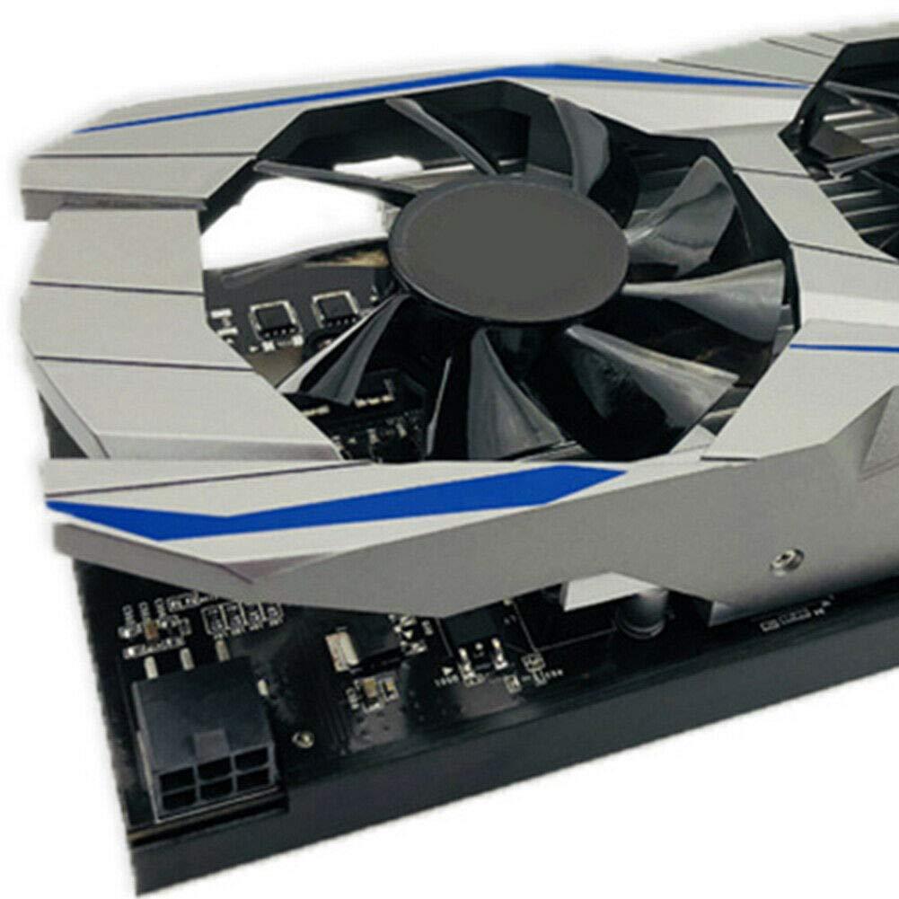 Phnirva Tarjeta gr/áfica Duradera GTX1050ti 4G DDR5 128bit Disposici/ón de Calor Tarjeta gr/áfica Duradera