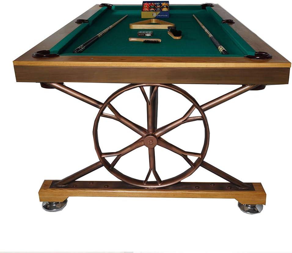 WXXW Mesa de Billar Pool Table Fútbol Madera 213x122x81cm para Niño 3 Años y Adultos Sala De Juegos Interior y Exterior, Regalos Navideños, Manos De Entrenamiento, Juegos De Rompecabezas: Amazon.es: Deportes y