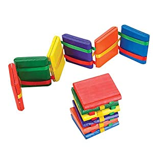 Kicko 12 Inch Wooden Jacobs Ladder - Pack of 12 Classical Woodcraft Toy - Optical Illusion Games, String Activities, Magical Tricks