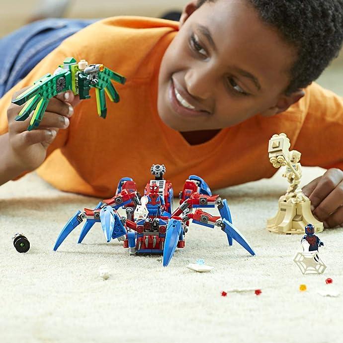 LEGO 乐高 超级英雄系列 76114 蜘蛛侠的大蜘蛛战车 积木玩具 6.2折$24.99 海淘转运到手约¥209
