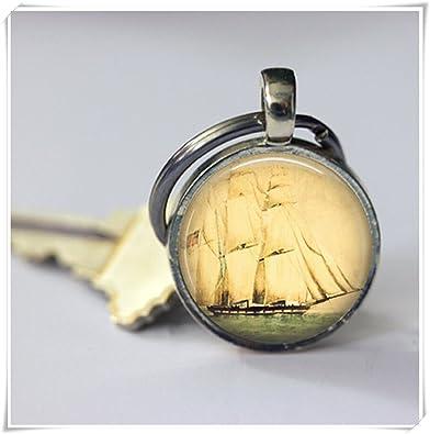 Beautiful Dandelion Llavero náutico vintage de barco: Amazon ...