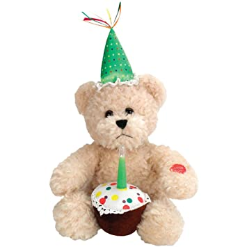 Amazon Animated Blow Out Candle Sings Happy Birthday Bear Plush Glowing LED Light Baby