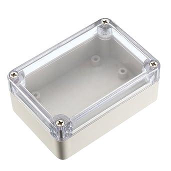 Sourcingmap - Caja de derivación electrónica de plástico ABS sellado IP65, 85 x 58 x 33 mm, transparente: Amazon.es: Industria, empresas y ciencia