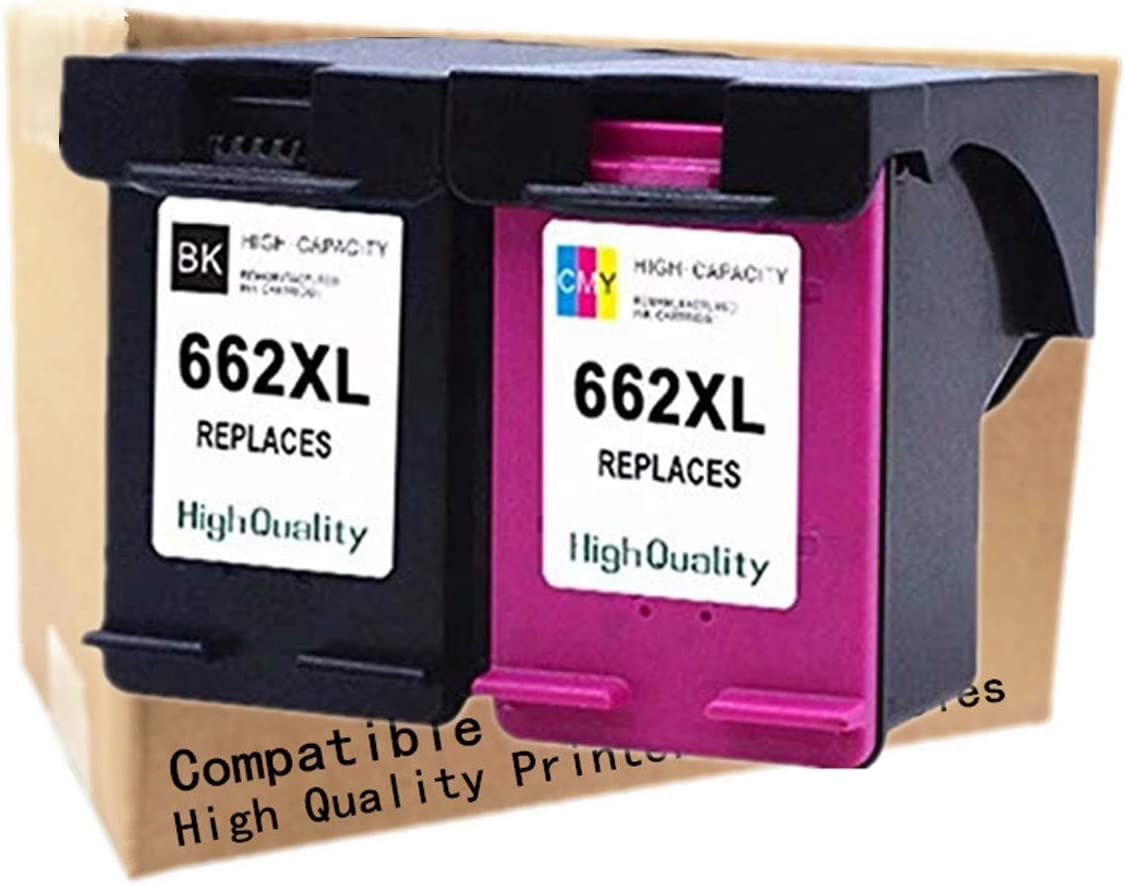 No-name Remanufactured Ink Cartridges Replacement for HP 662 XL 662XL HP662 HP662XL Deskjet Advantage 1015 1515 2515 2545 2645 3515 3545 4515 4645 Inkjet Printer (1 Black + 1 Tri-Color)