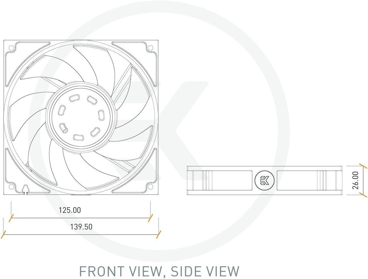 EK-Vardar EVO 140er - Ventilador de Alta presión estática (140 mm, 2000 RPM), Color Negro: Amazon.es: Informática