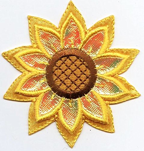 Sunflower - Shimmery - Yellow 3D Layered Flower - Iron on Applique/Embroidered Patch