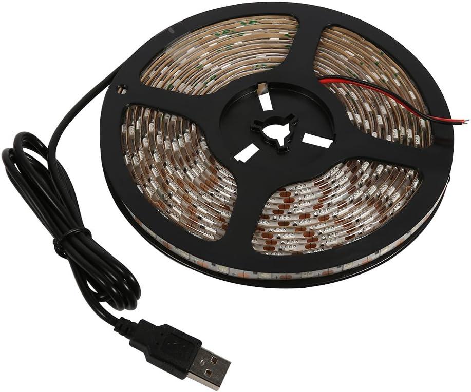 Warm Light 5 Colors 5M 5V USB Power Supply Waterproof 5050 Led Strip Light Decorating Lamp TV Backlight Oumij USB LED Strip Light
