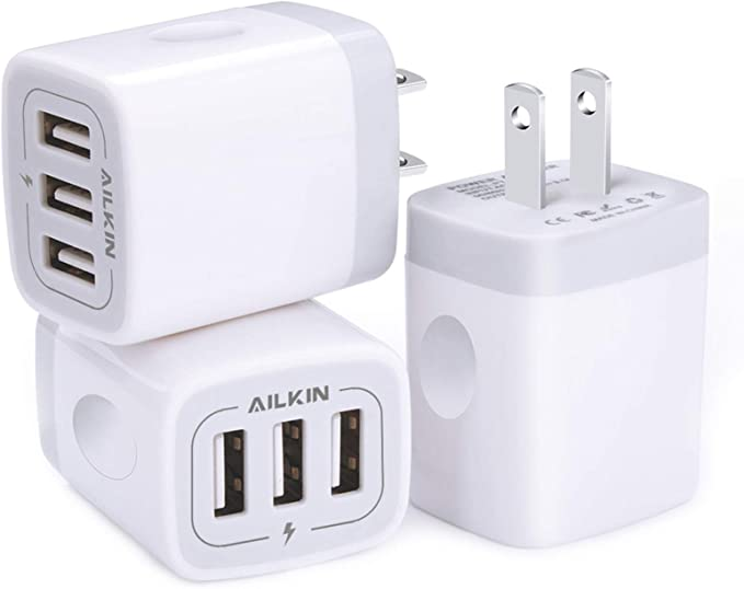 Lenyes USB Plug UK Fast Charger,Multi QC 3.0 Wall Charger Mains Adapter 3Port//30W with Quick Charge 3.0 Charging for Samsung Galaxy A50 S10 S20 S9 S8 S7,iPhone 11//XS//XR//6//7//8,Huawei P20//P10,Xiaomi ect
