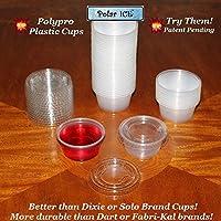 Vasos de chupito de plástico duradero Polar Ice Jello, 2 onzas, translúcido (paquete de 125)
