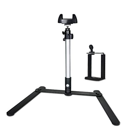 LS Photography Copy Stand, Rotatable Table Top Monopod With 360 Degree  Swivel Ball Head Mount