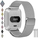For Fitbit Versa Band, Vancle Small Large Size Adjustable Replacement Watch Bands Metal