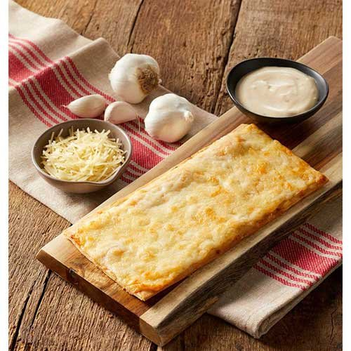 Gilardi Whole Grain Flatbread White Garlic Parmesan Cheese Pizza, 4.25 Ounce -- 1 each.