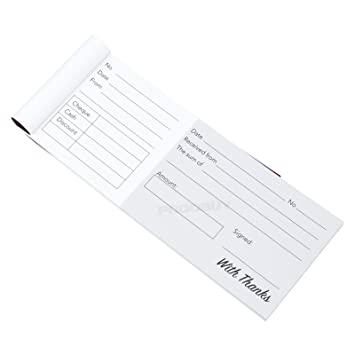 pack of 5 cash receipt books wide cheque book style 40 receipts
