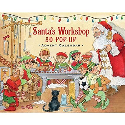 Santas Workshop 3D Pop-Up Advent Calendar
