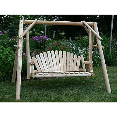 Cedar Creek Rustic Furniture 5 ft. Cedar Log Swing and Stand