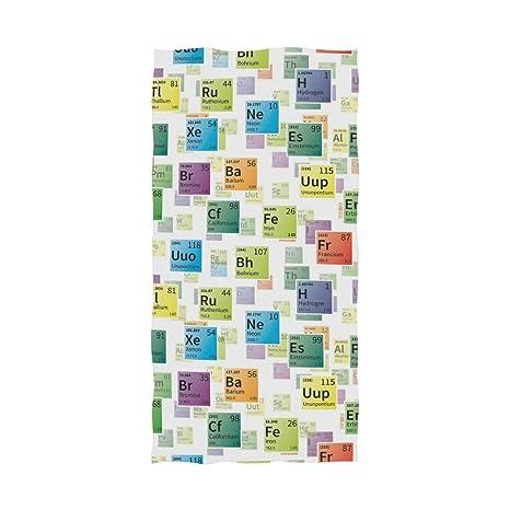 Ahomy - Toalla de baño (81 x 162 cm), diseño de Tabla periódica