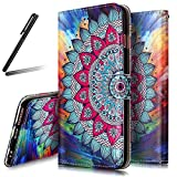 iPhone 7 Stand Case,iPhone 7 Wallet Case,iPhone 7 Cover,Flip Case for iPhone 7,SKYMARS iPhone 7 Cover Gloss Skin 3D Creative Design Book Style PU Leather Flip Kickstand Cards Slot Wallet Magnet Protective Stand Case for iPhone 7 4.7 inch Half Flower