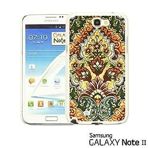OnlineBestDigital - Flower Pattern Hardback Case for Samsung Galaxy Note 2 - Vintage Floral Print