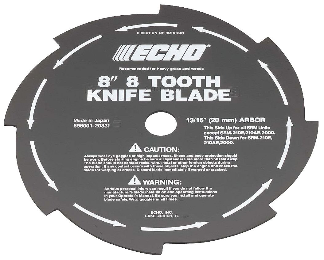 """Echo 69600120331 8"""" 8-Tooth Grass & Weed Blade"""
