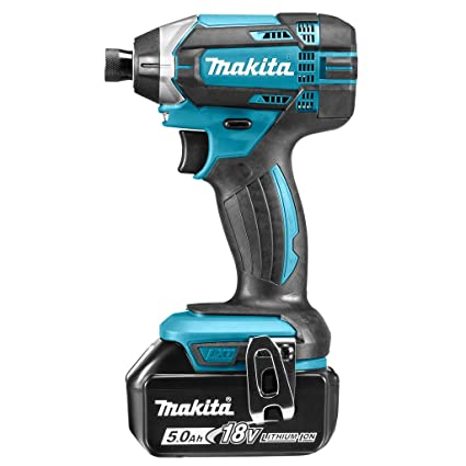 MAKITA 0088381813679 Atornillador, 0 W, 18 V, Negro, Azul, con con 2x batería de 5.0 Ah
