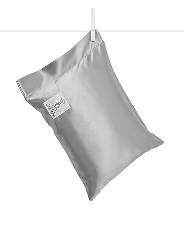 Little Giraffe Satin Nap Pillow, Silver, 10 x 13