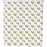 Uneekee Cute Angels Shower Curtain: Large Waterproof Luxurious Bathroom Design Woven Fabric
