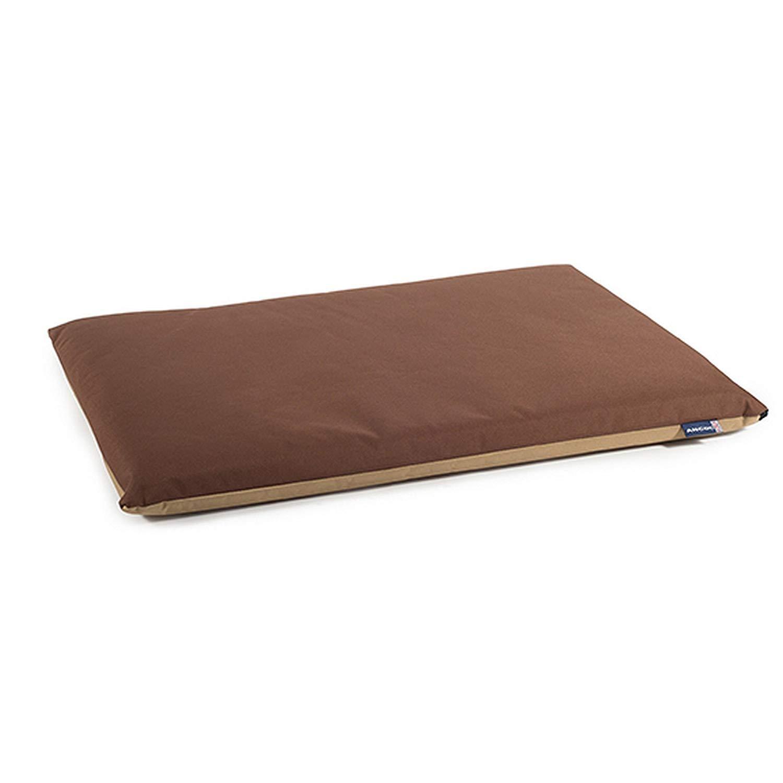 Brown Beige 3XWaterproof Flat Pad Bed for Dog, 61 x 46 cm, Brown Beige
