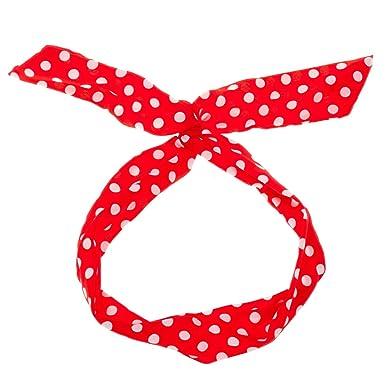 586bb1bcf631 Bandeau à nouer rouge à pois blanc - Bandeaux Cheveux - Bandeau Vintage -  Headband