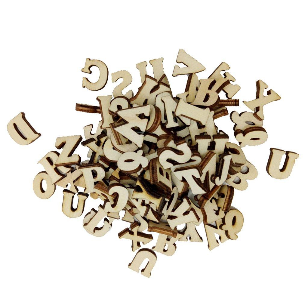 MagiDeal Lot de 100pcs Alphabet en Bois pour Enfants Projets Cr/éatifs Utilisation en Classe