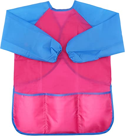 Community Event Blue Crafts /& Art Painting Activity 5-8Year Honbay Kids Waterproof Long-sleeved Smock Apron Bib for Eating Painting Kitchen Classroom