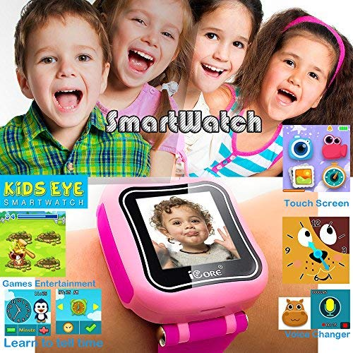 iCore Kids Watch, Durable Smart Watch for Kids, Game Pink Camera Smartwatch, Digital Touch Screen Kid Watches with Alarm Clock Stopwatch, Toys Video Games Girls Boys by iCore (Image #7)