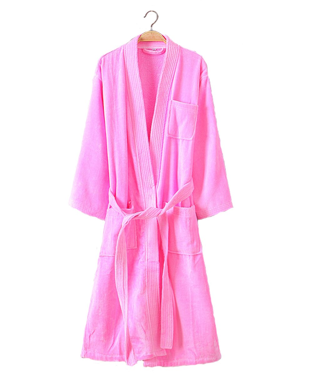 Cahayi Womens Robe Soft Cotton Lightweight Spa Kimono Bathrobe Nightgowns Long