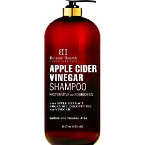 BOTANIC HEARTH Apple Cider Vinegar Shampoo - Clarifying and Nourishing, Reduces Itchy Scalp, Dandruff & Frizz - Sulfate Free, for All Hair Types, Men and Women - 16 fl oz