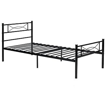 yanni premium modern easy set up steel platform bed frametwin enhanced sturdy