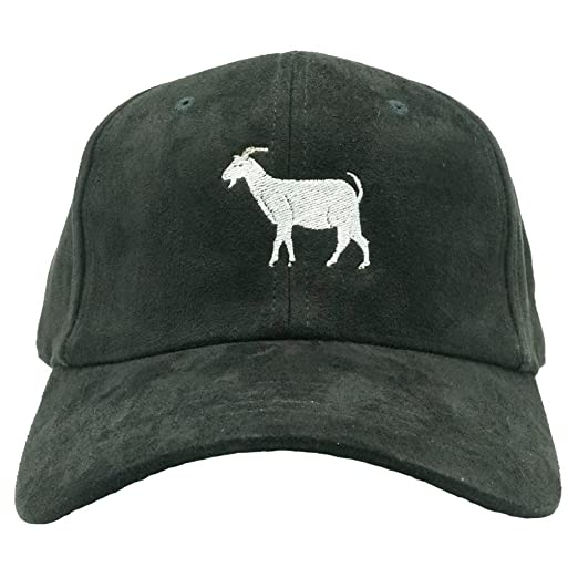 5d7062ecf75 Nissi Goat Dad Hat (Black Suede) at Amazon Men s Clothing store