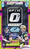 2017 Donruss Optic NFL Football MASSIVE Factory Sealed 24 Pack Retail Box! ROOKIE Card in Every Pack! Look for Rookies & Autographs of Deshaun Watson, Alvin Kamara, Kareem Hunt & Many More! WOWZZER!