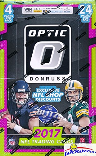 2017 Donruss Optic NFL Football MASSIVE Factory Sealed 24 Pack Retail Box! ROOKIE Card in Every Pack! Look for Rookies & Autographs of Deshaun Watson, Alvin Kamara, Kareem Hunt & ()