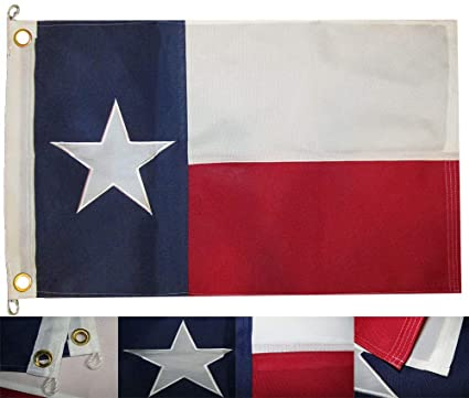 5x8 Embroidered Sewn State of Texas Nylon Flag 5/'x8/' Banner Clips