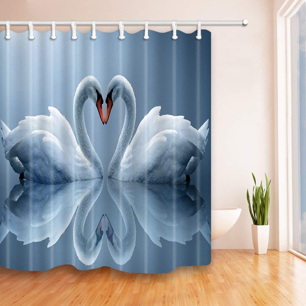umgeben von Angelzubeh/ör Mildew Resistant Polyester Bad Duschvorhang Set mit Haken EdCott K/öder 71X71 Zoll
