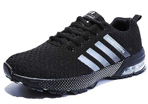 1fb1fa9e325 Homme Femme Chaussures de Sport Respirantes Plein Air Sneaker Running Shoes pour  Trail Entraînement Course Gym