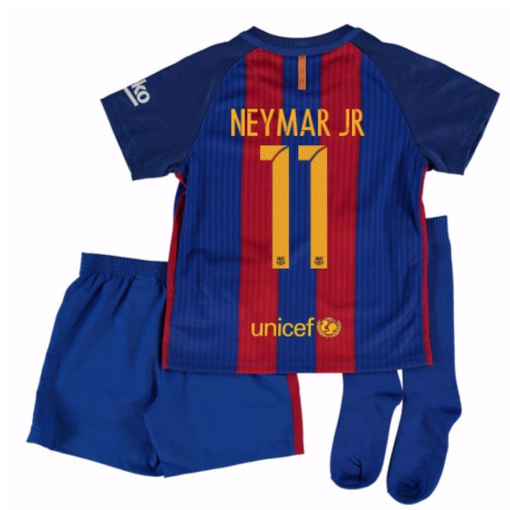 2016-17 Barcelona Home Little Boys Mini Kit (With Sponsor) (Neymar JR 11) B01N8OFFOA