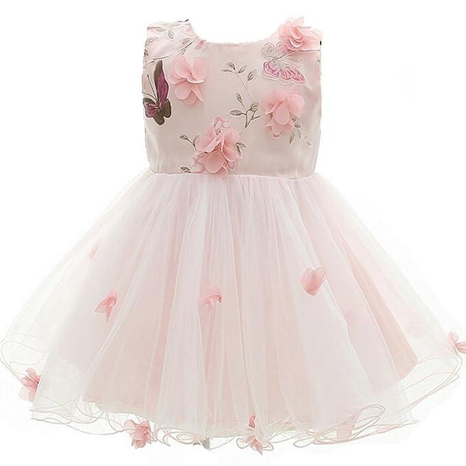 AHAHA Nena Bautismo Boda Vestidos De Fiesta De Princesa Vestido De Ocasión Especial