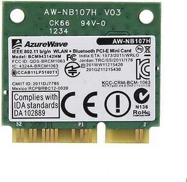 AzureWave AW-NB107H BCM943142HM Half Mini PCIE Wlan WIFI Card BT4.0 802.11 b//g//n