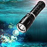 KssFire® 1800 Lumens Submarine Light Cree XM-L T6 L2 100M Underwater LED Scuba Diving Flashlight Underwater Waterproof Torch 18650 Flashlight Dive Waterproof Torch Light for Diving Camping etc.