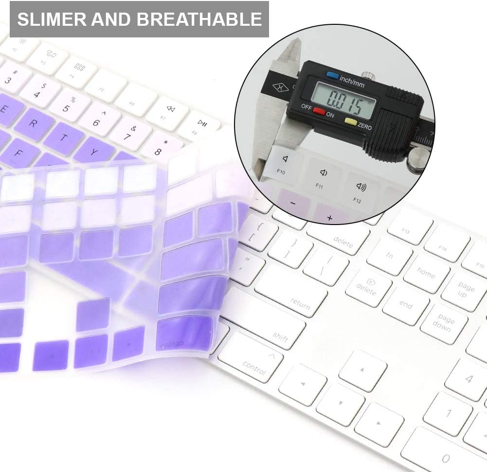 All-inside Rainbow Cover for Apple iMac Magic Keyboard with Numeric Keypad MQ052LL//A A1843 US Layout