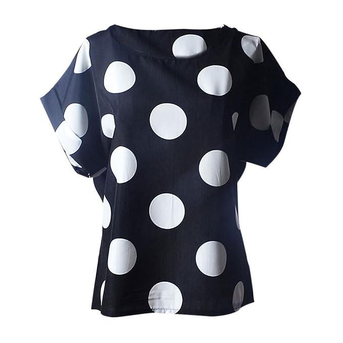 ❤ Blusas Mujer Gasa Punto de Ola,Blusa de Mujer de Manga Corta Estampado de Flores Casual Camisa de Gasa Tropical Absolute: Amazon.es: Ropa y accesorios