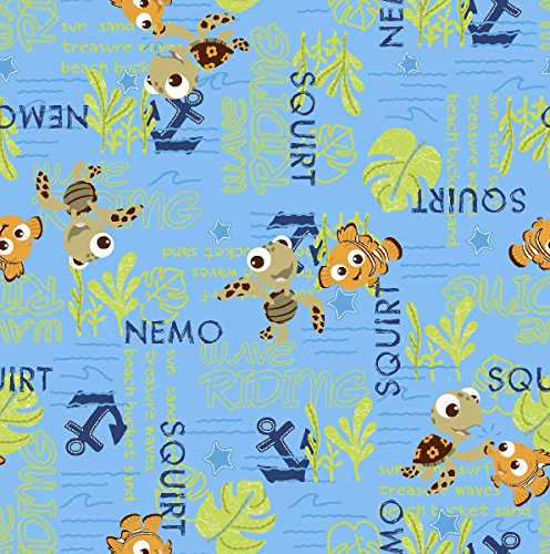 springs-creative-products-group-disney-nemo-and-squirt-allover-fabric-43-by-44-inch-blue